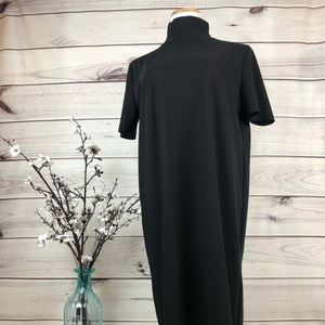 Dress black midi length NWT high neck